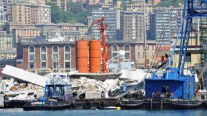 Ship crash in Genoa, Italy