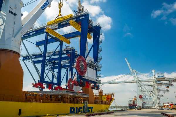 Konecranes ASC/RMG delivery at Global Container Terminal New Jersey USA